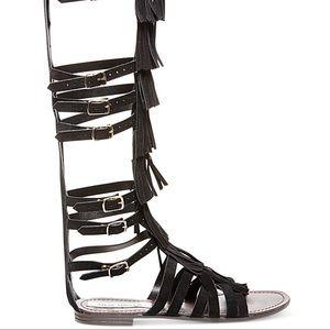 Steve Madden Fringe Gladiator Sandal